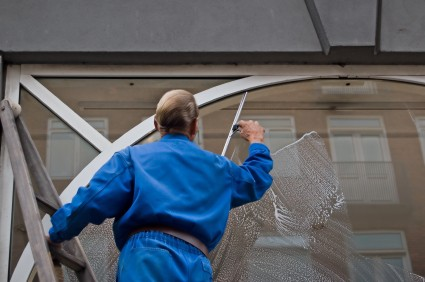 Commercial window cleaning in Boston MA by Breezie Cleaning and Janitorial Services